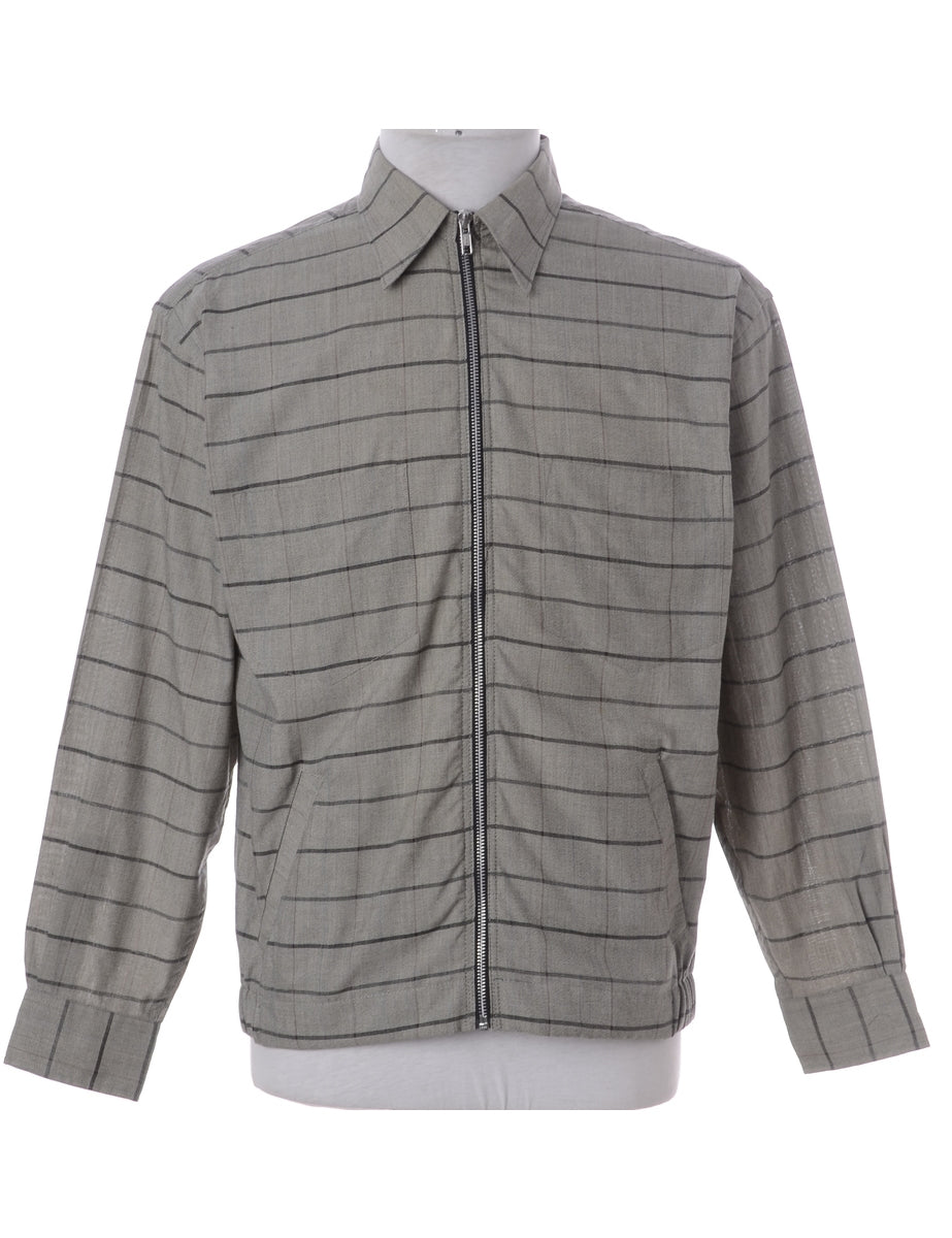 Label Clint Lightweight Checked Bomber Jacket