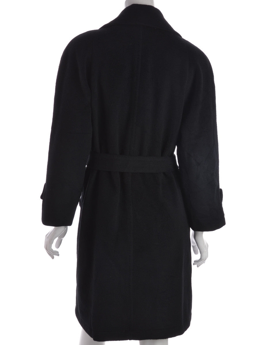 Beyond Retro Label Coat Black With Welt Pockets