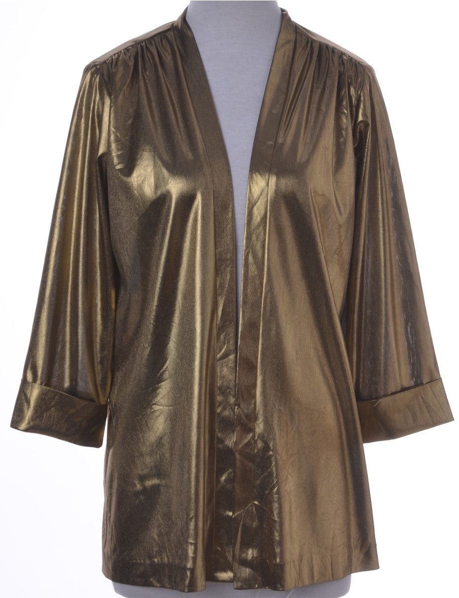 Evening Jacket Gold With Removable Shoulder Pads