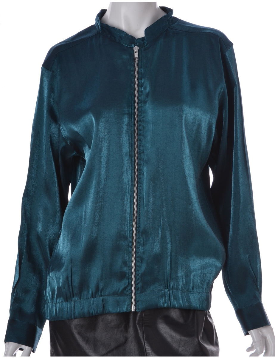 Label Green Blouse Bomber