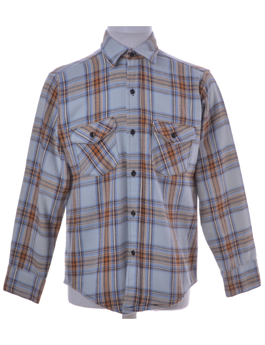Vintage Checked Shirt Multi-colour With Two Pockets