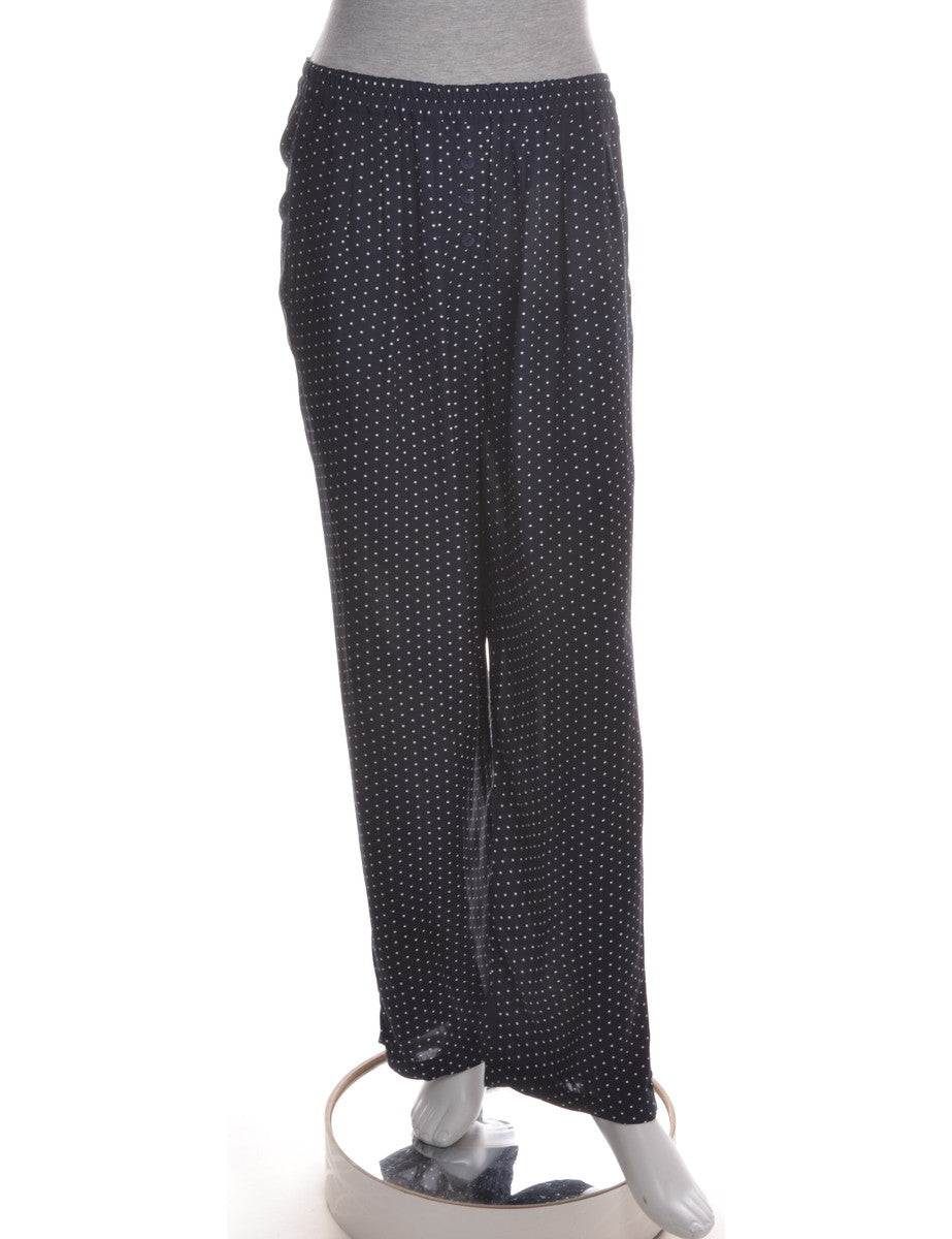 Casual Trousers Classic Navy With Pockets