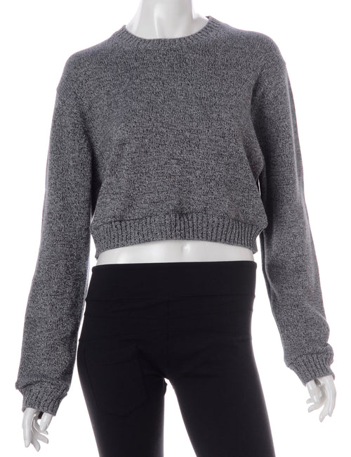 Label Alice Cropped Plain Knitted Jumper