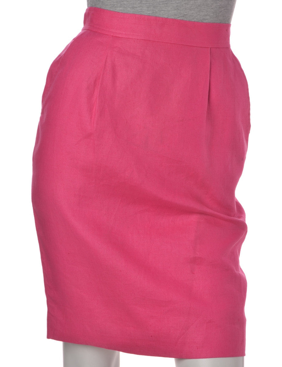 Midi Skirt Pink With Full Lining