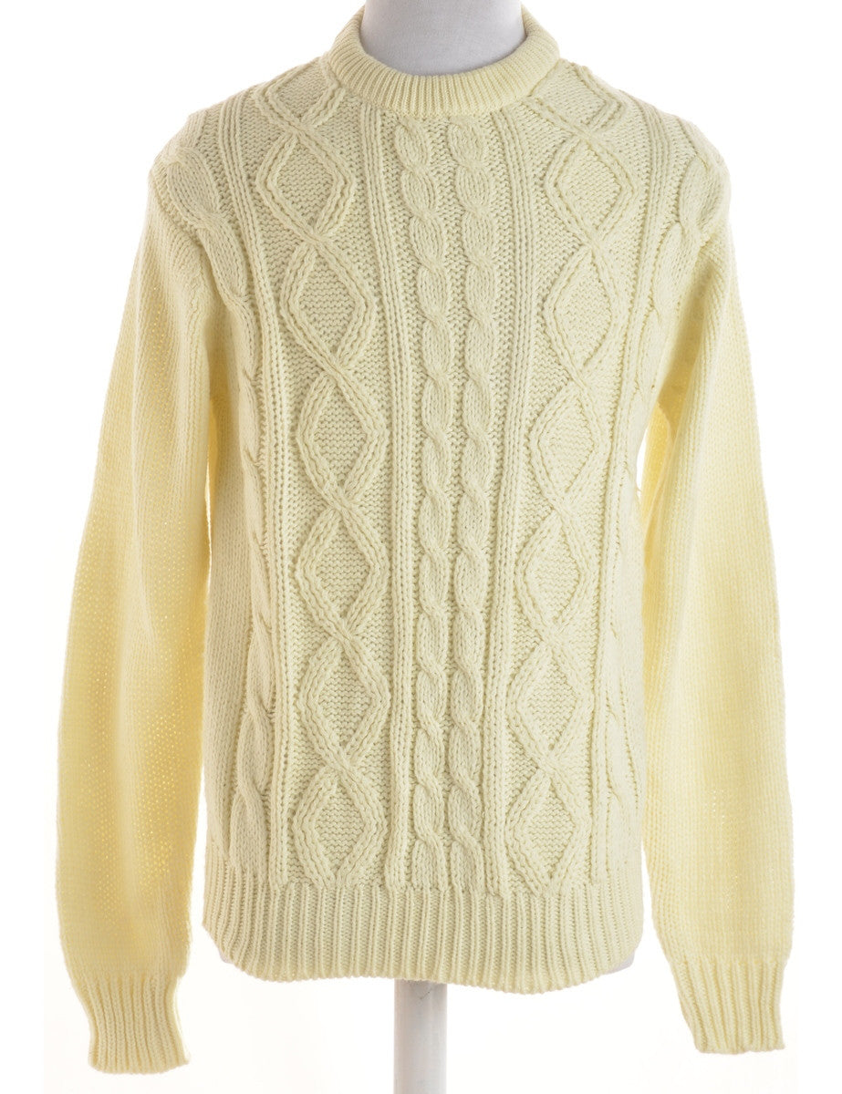 Jumper Cream With A Round Neck