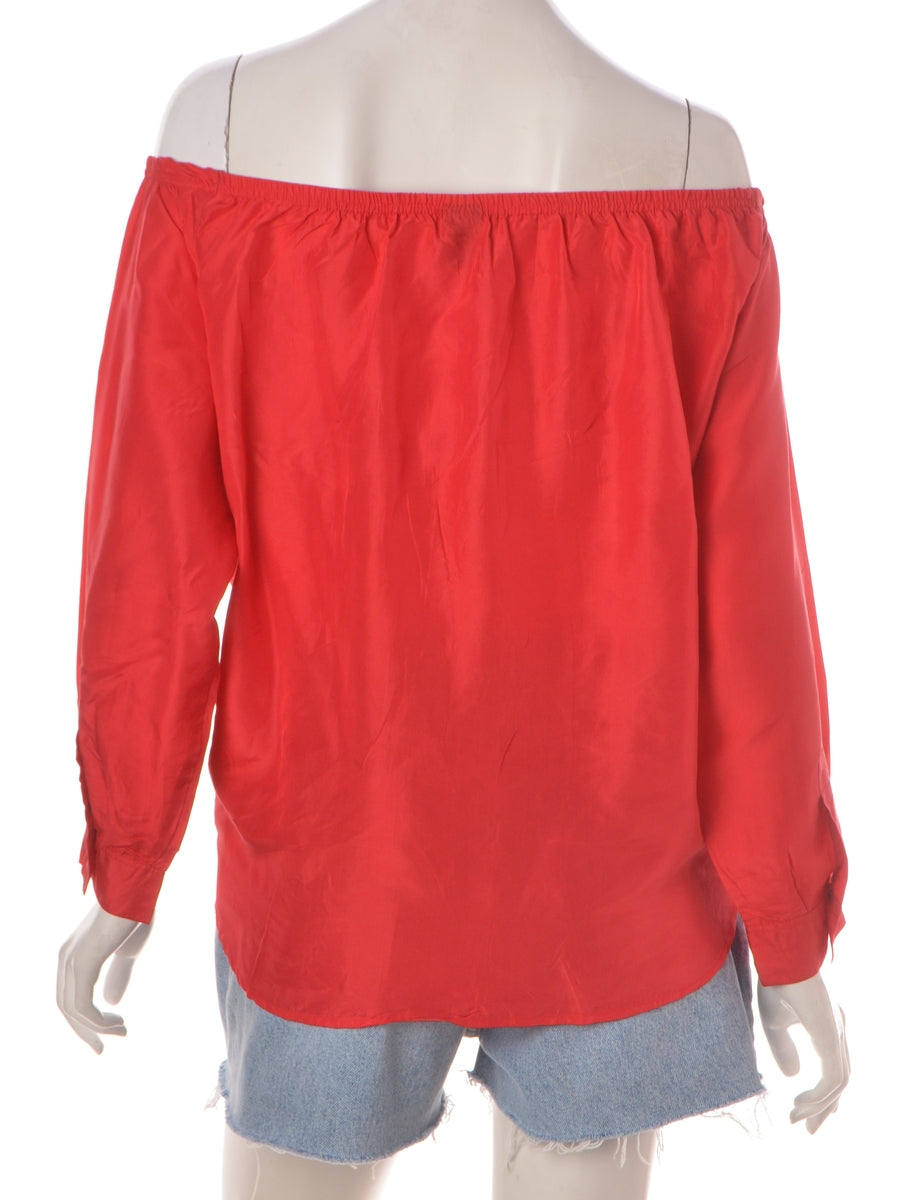 Label Red Off The Shoulder Blouse