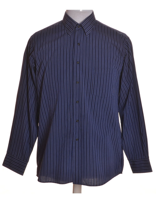 Casual Shirt Blue With One Pocket