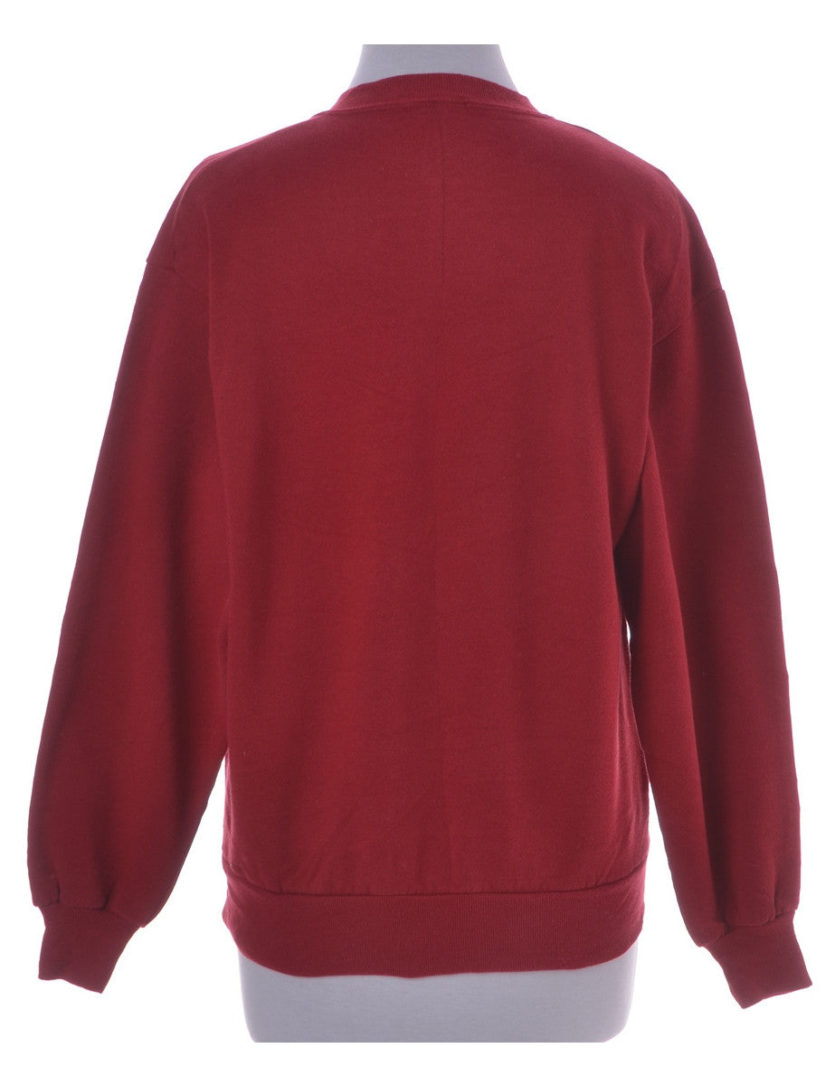 Christmas Sweatshirt Red With A Round Neck