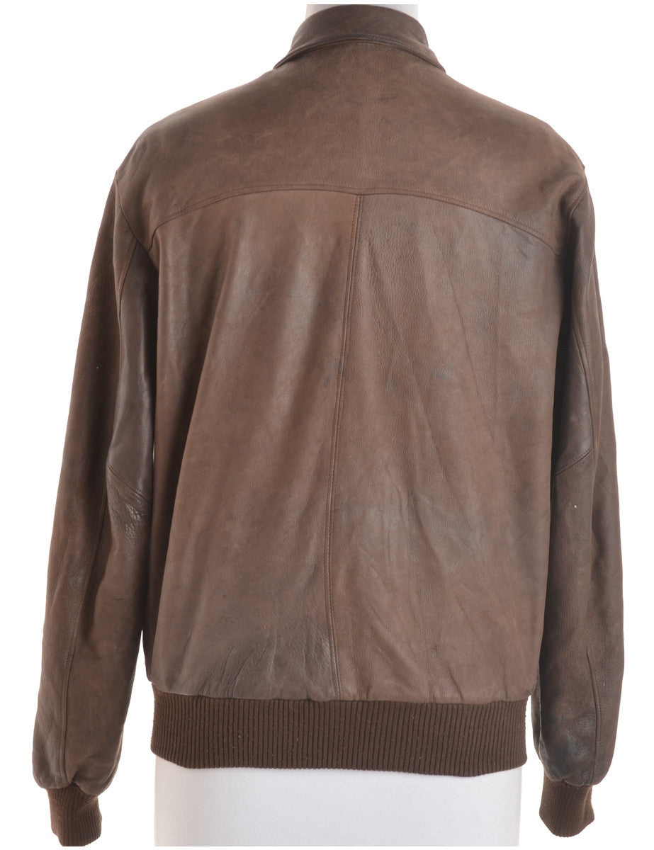 Leather Jacket Brown With Full Lining