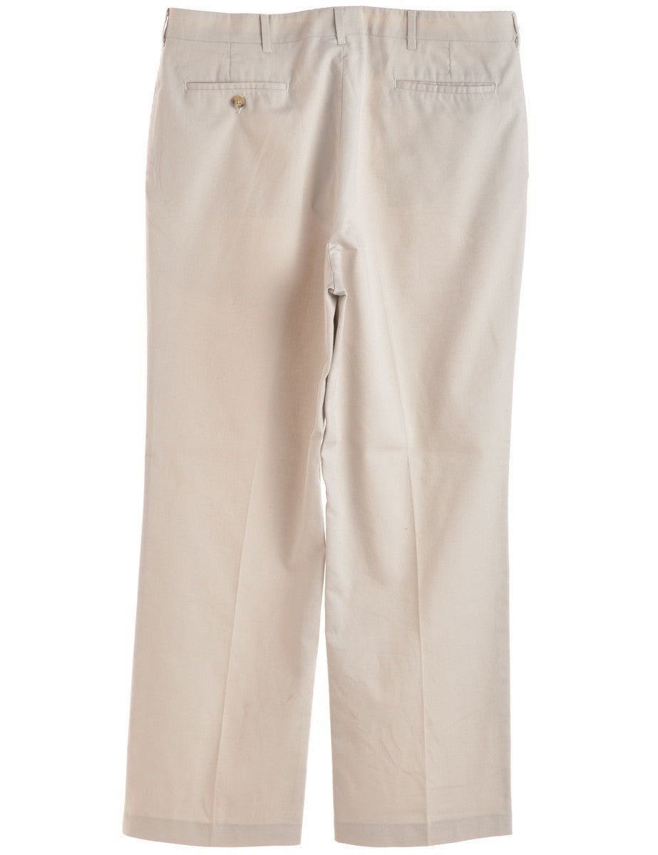 Smart Trousers Off White With Multiple Pockets