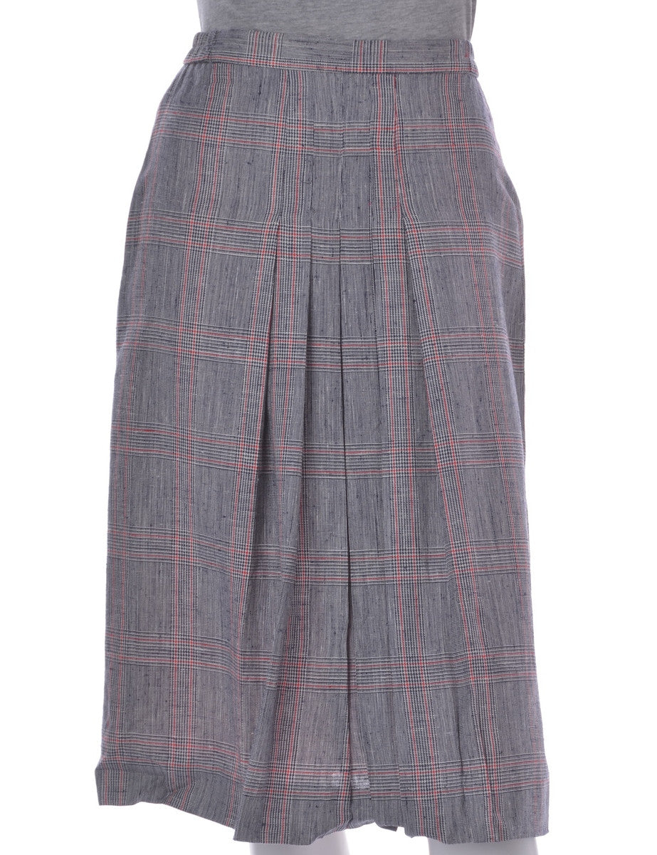 Midi Skirt Grey With Pleating
