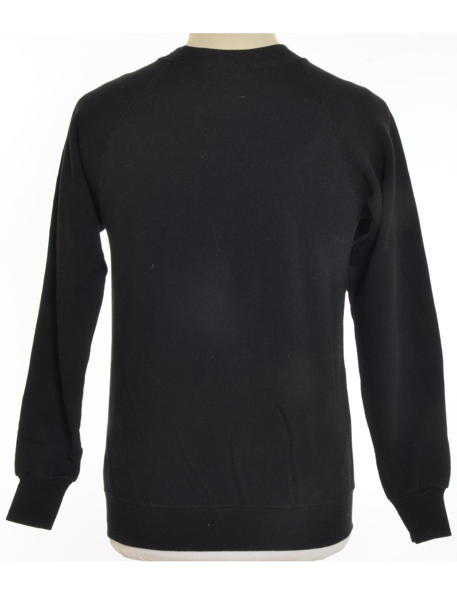 Printed Sweatshirt Black With Hand Customization