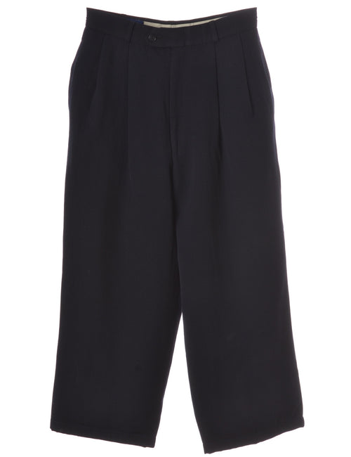 Label Navy Womens Cropped Trouser