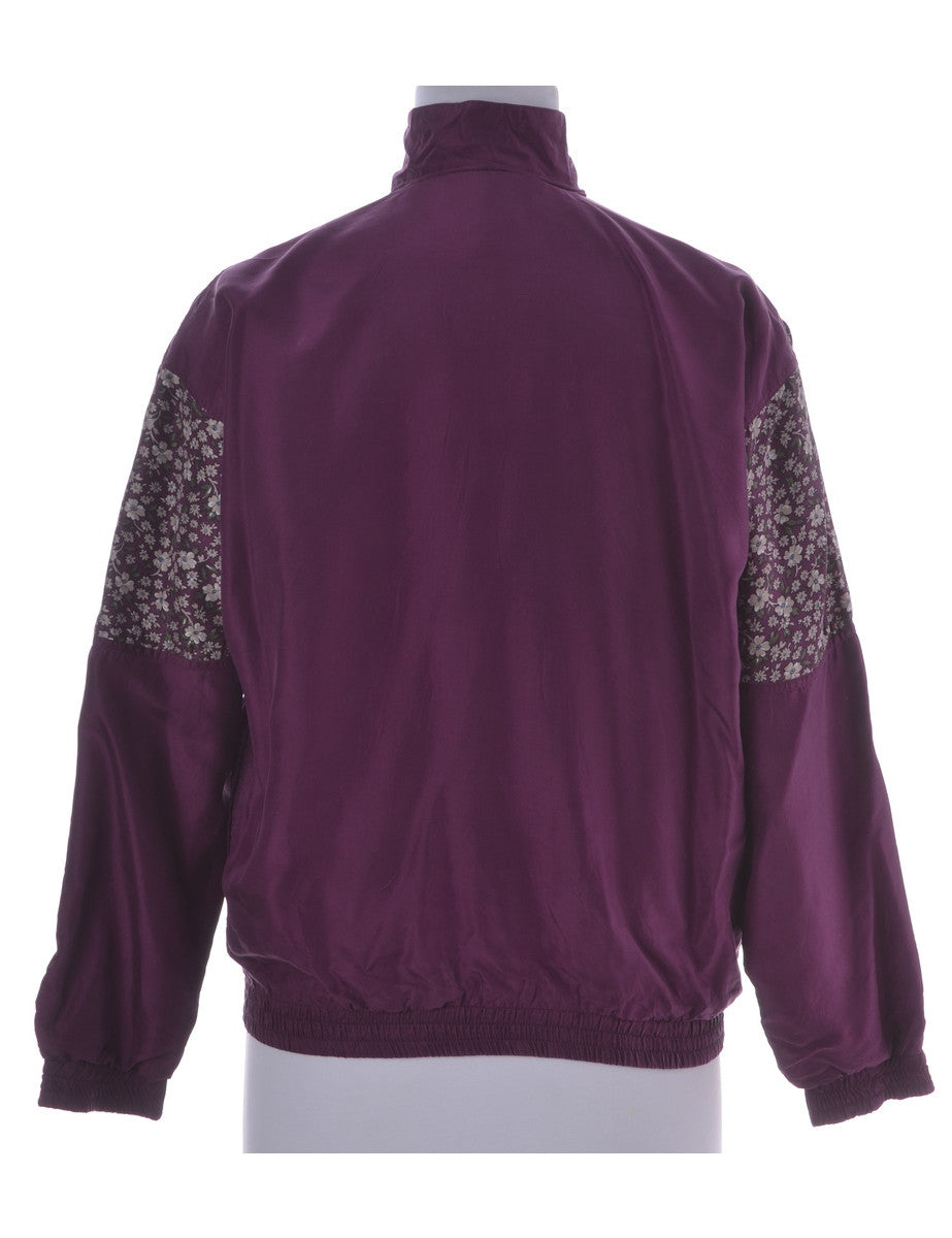 Casual Jacket Magenta With Pockets
