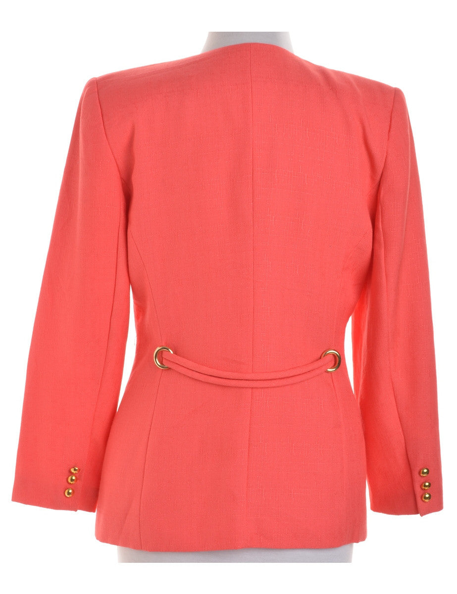 Vintage Blazer Pink With Gold Buttons