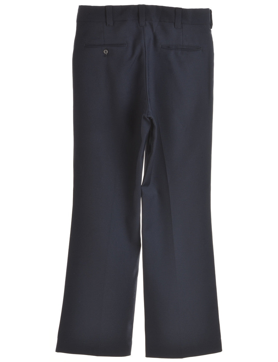 Smart Trousers Navy With Pockets