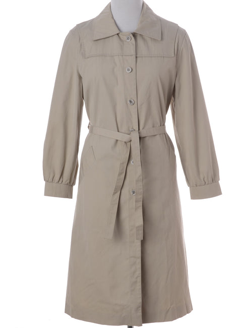 Vintage Trench Coat Ivory With Pockets