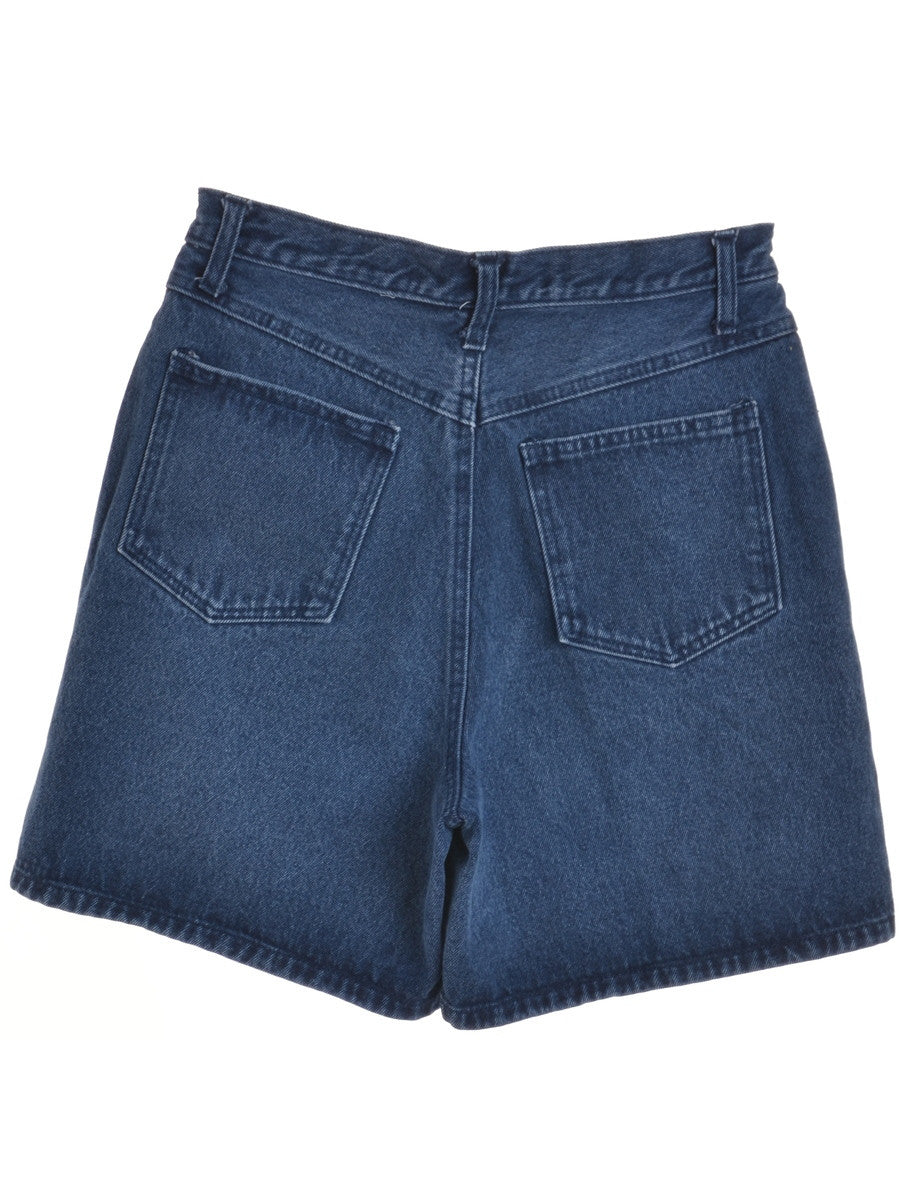 Denim Shorts Indigo With Multiple Pockets