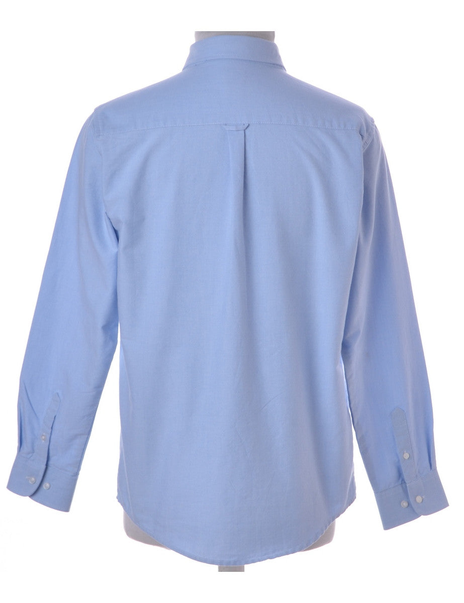 Casual Shirt Light Blue With A Button Down Collar