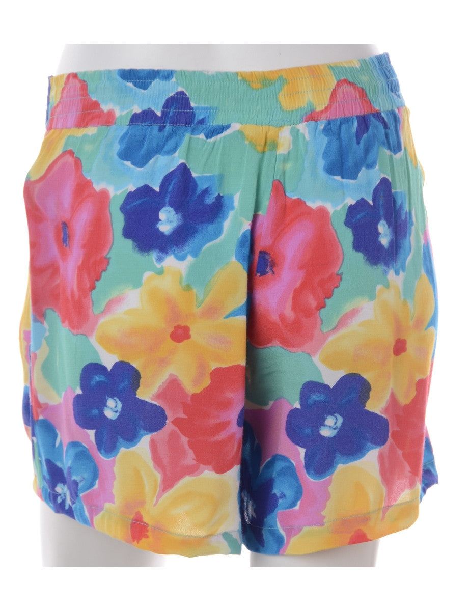 Label Floral Summer Shorts