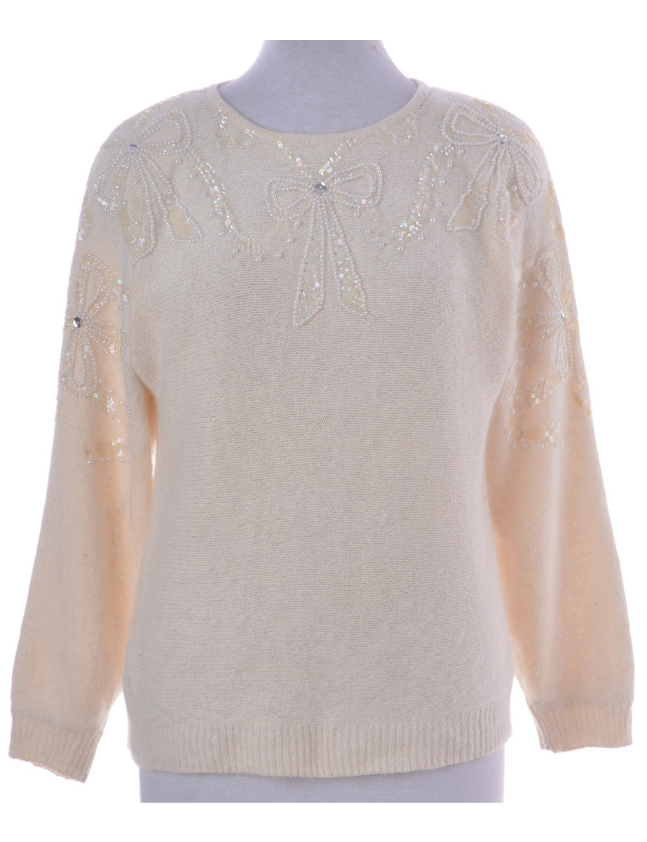 Jumper Cream With Beading