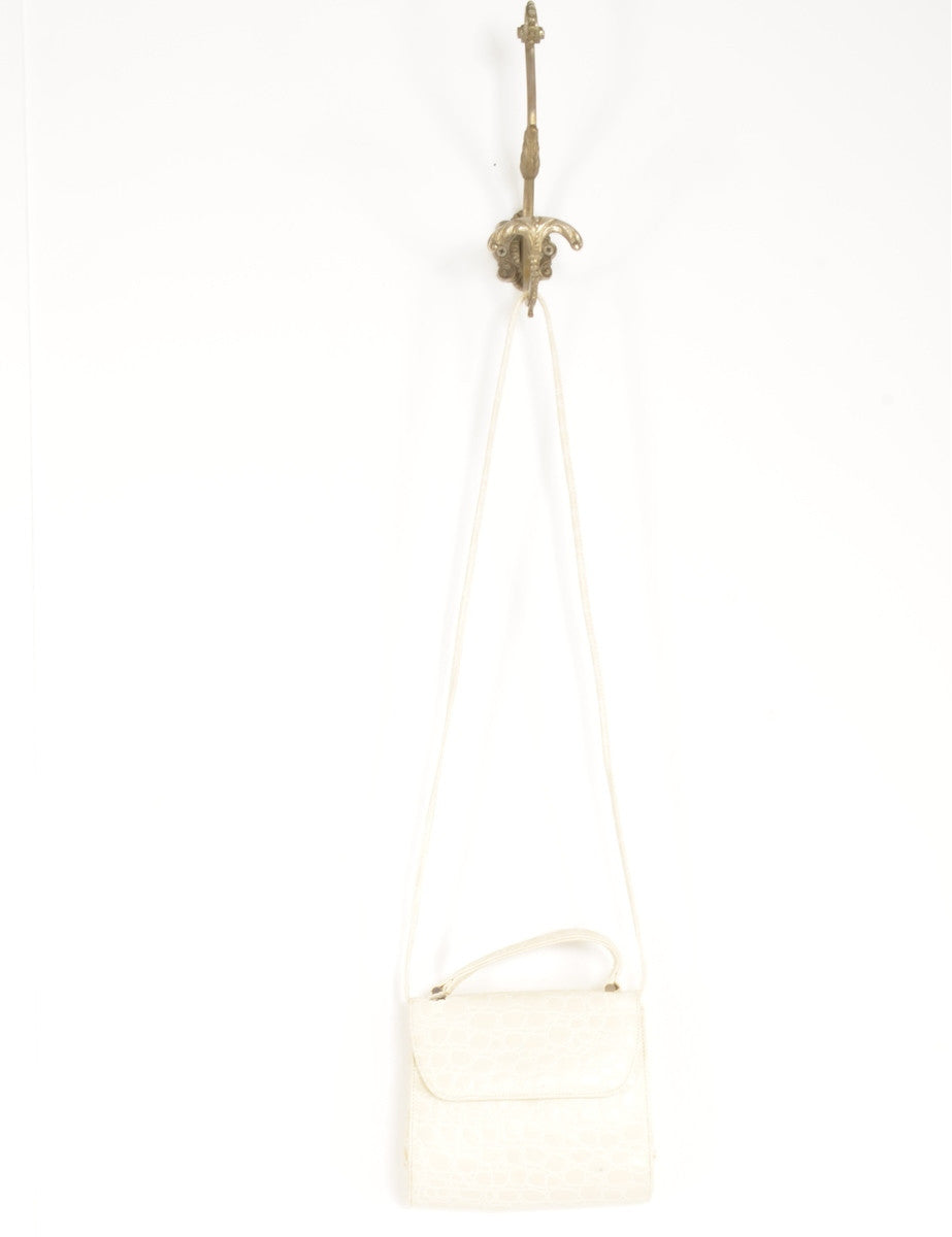 Handbag Off White With A Leather Handle
