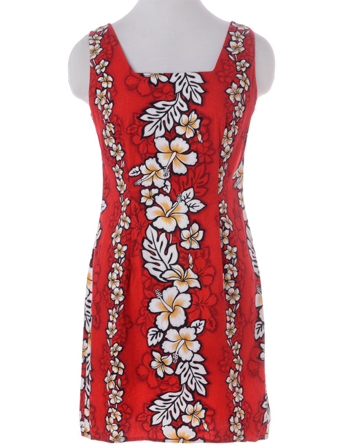Summer Dress Red With A Square Neck