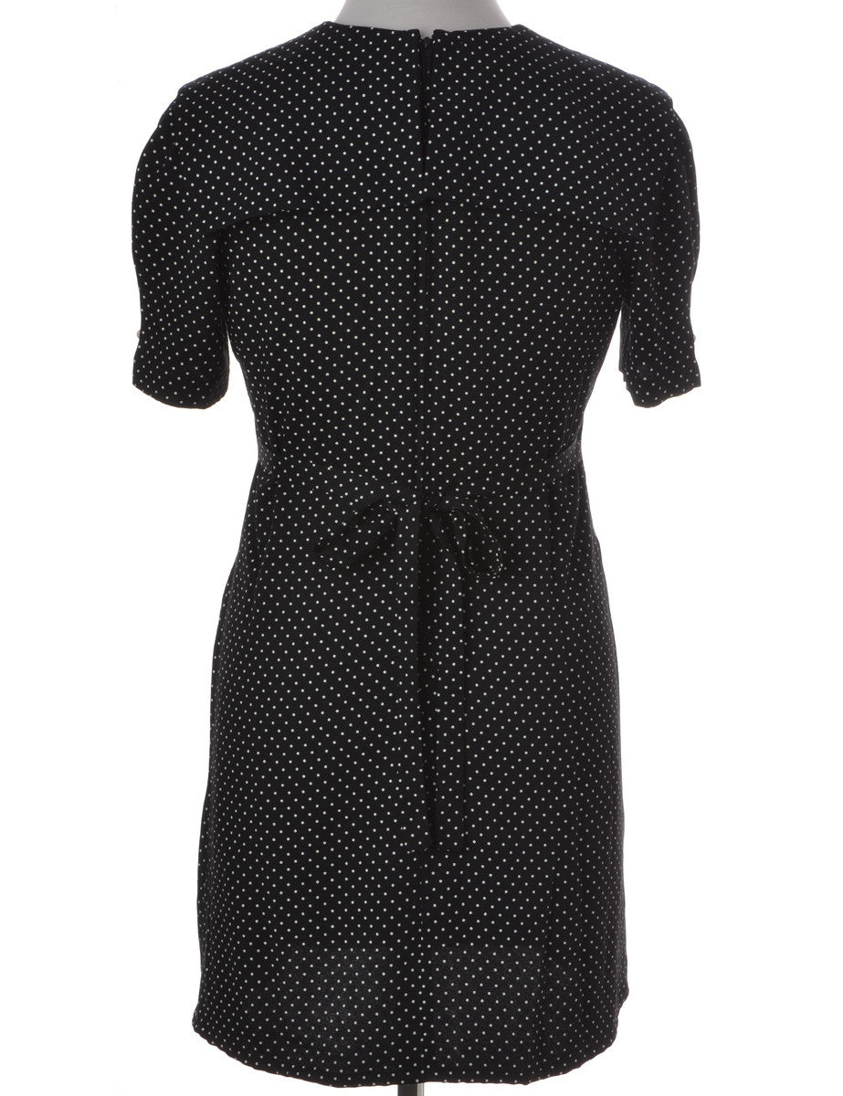 Beyond Retro Label Short Dress Black With Back Tie