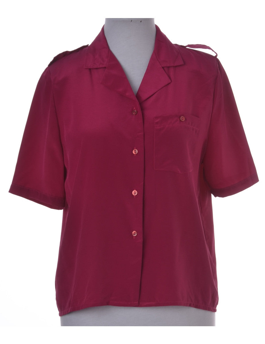 Shirt Pink With Epaulettes