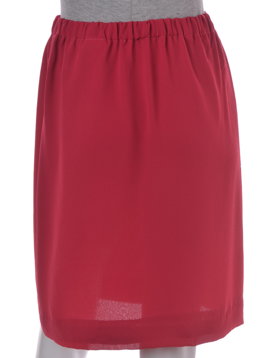 Mini Skirt Pink With An Elasticized Waist