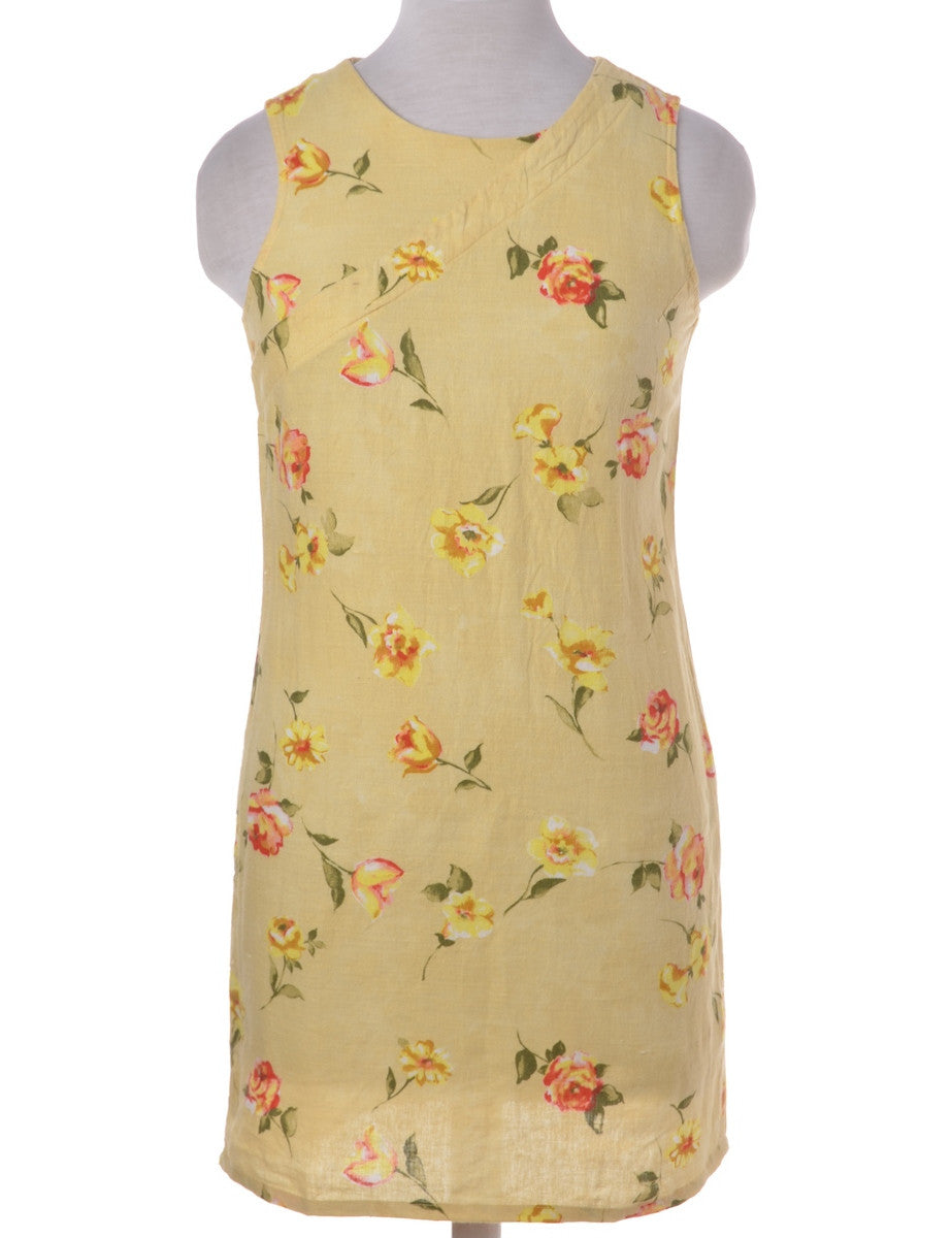 Beyond Retro Label Short Dress Yellow