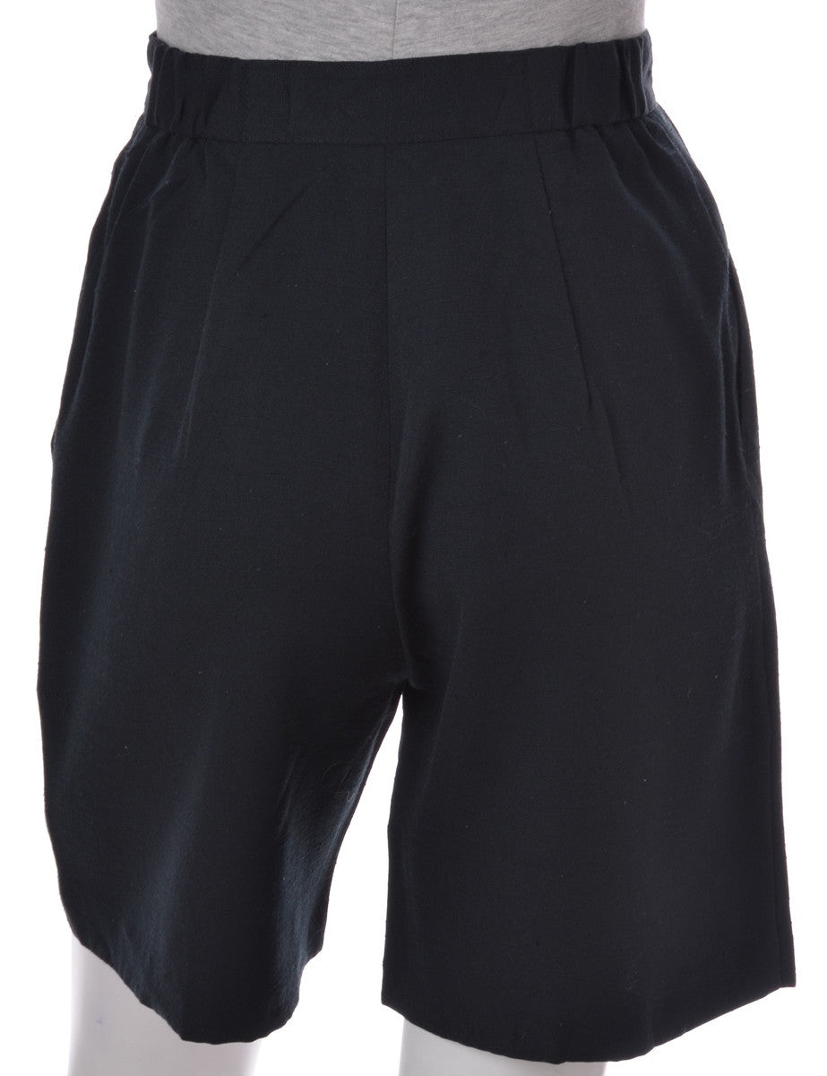 Casual Shorts Black With Pockets