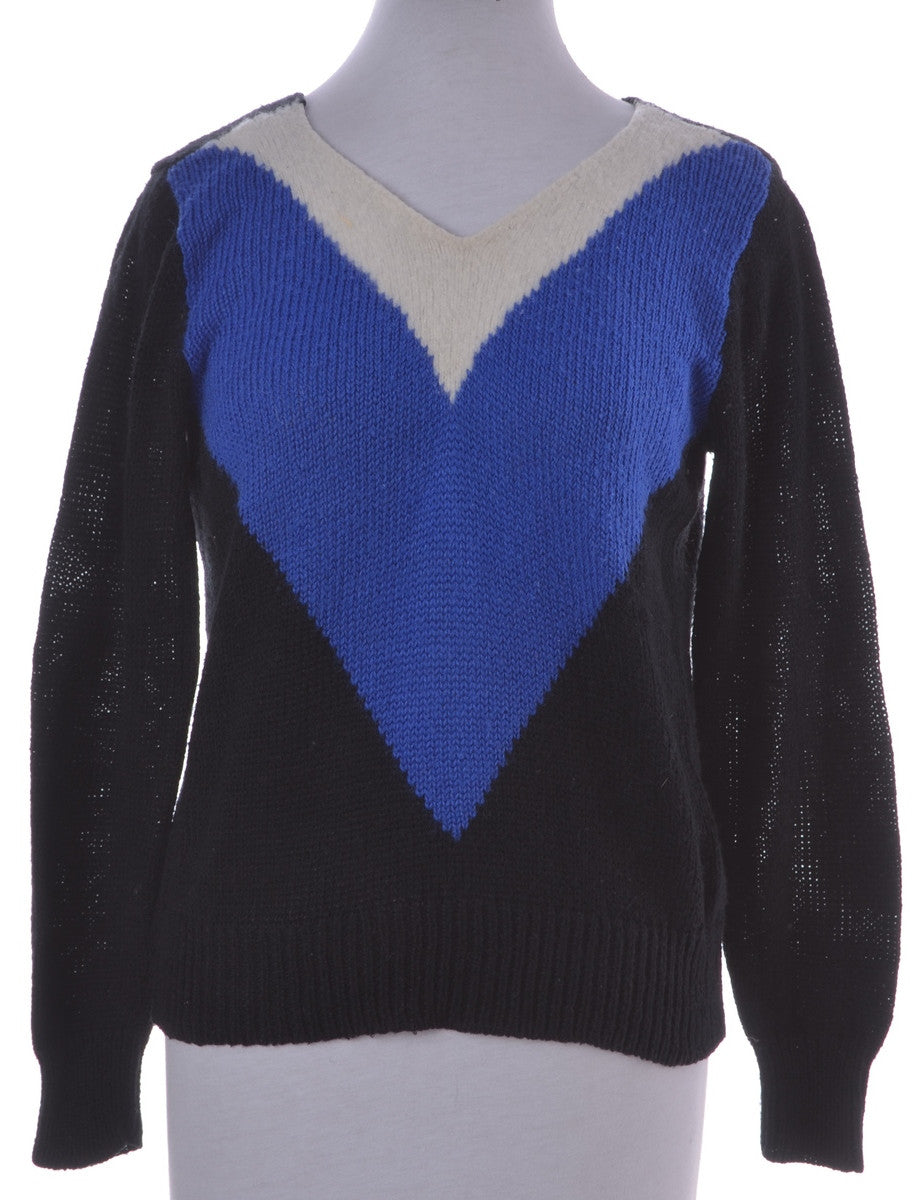 Jumper Black With Contrasting Panels