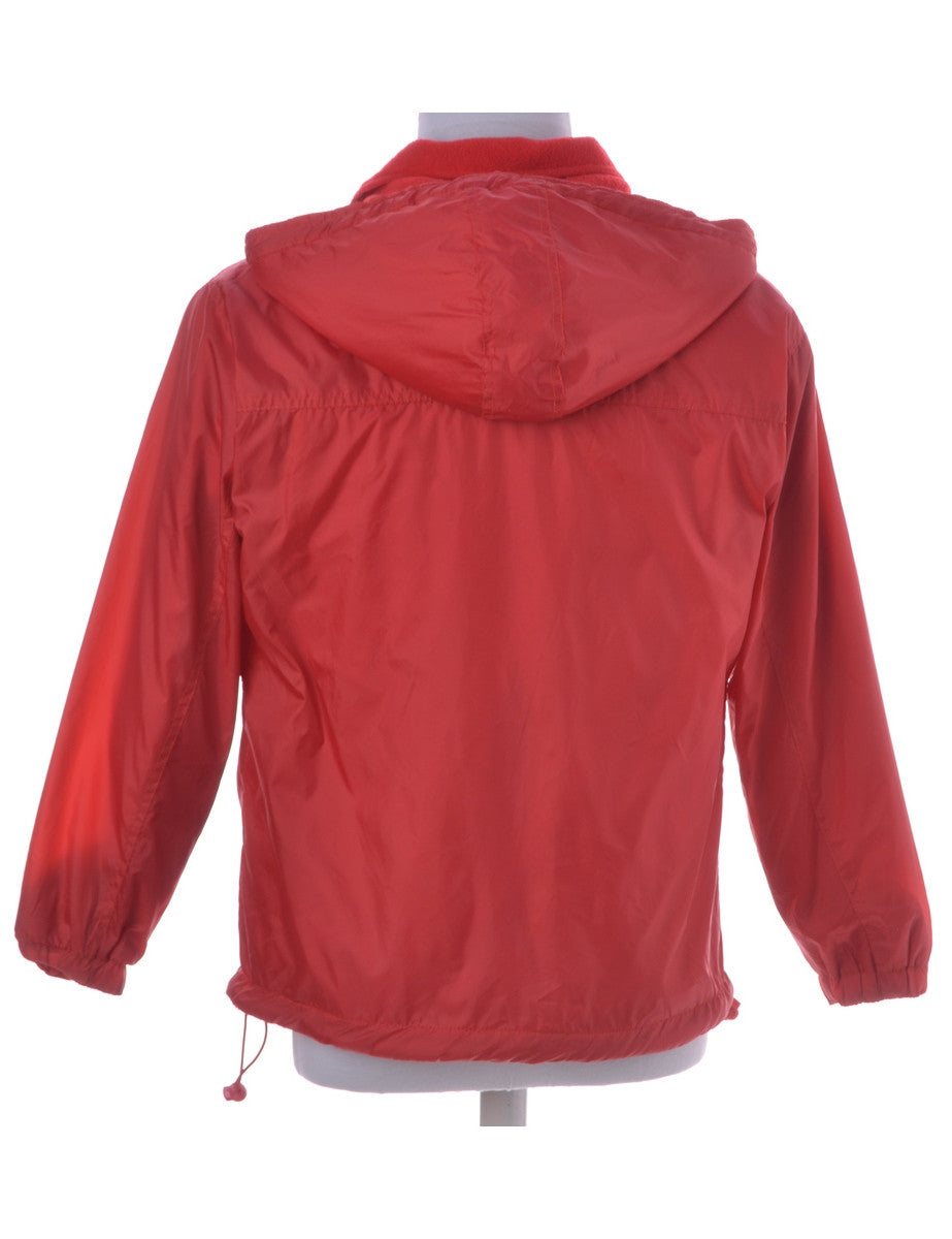 Casual Jacket Red With A Hood