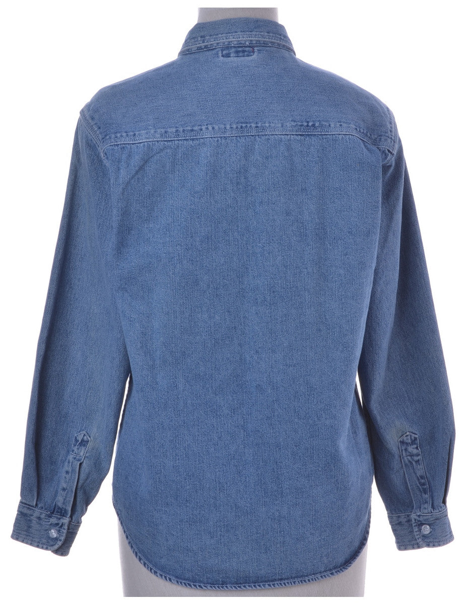 Denim Shirt Stone Wash With Pockets