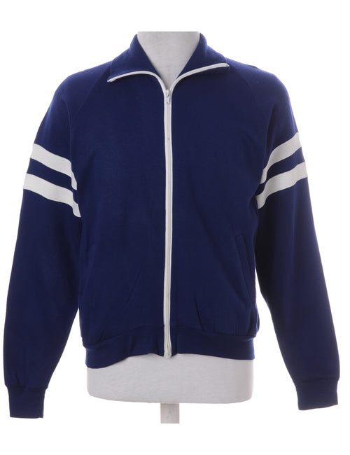 Vintage Track Jacket Navy With Contrasting Trim
