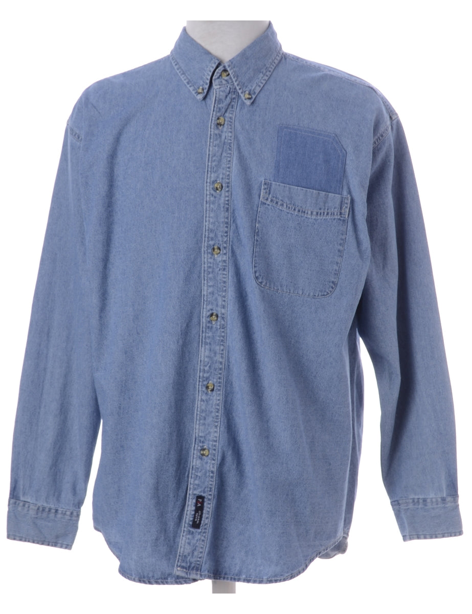 Label Callum Denim Double Pocket Shirt