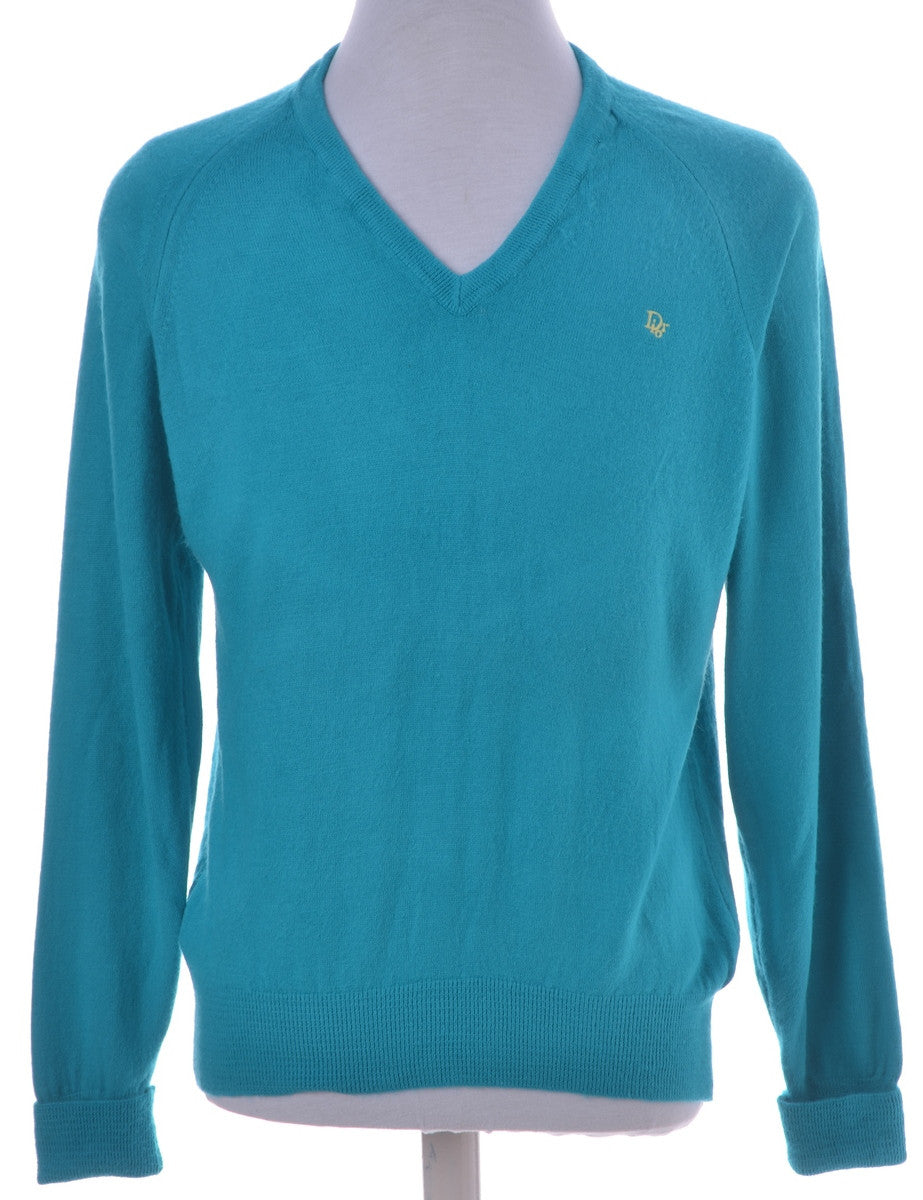 Jumper Turquoise With Raglan Sleeves