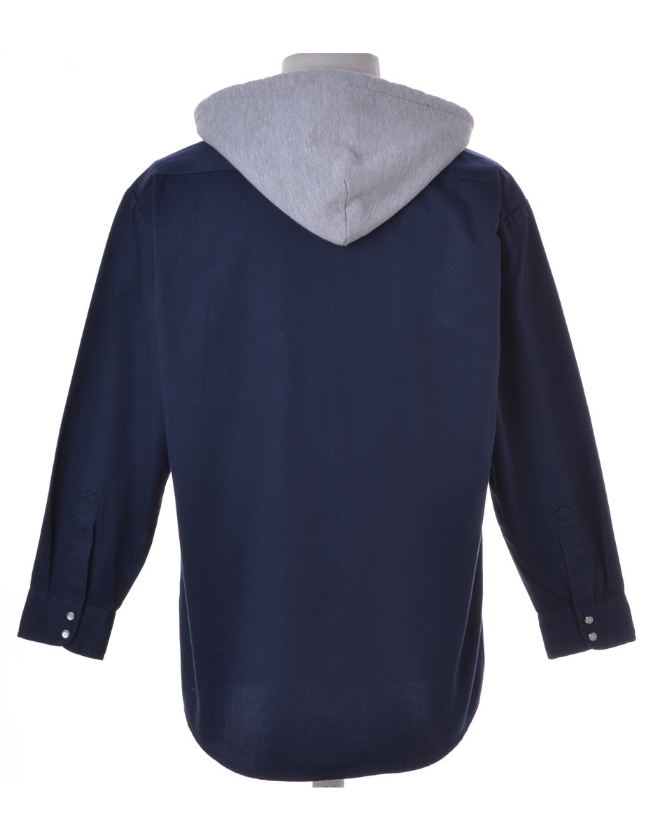 Label Hooded Cotton Shirt