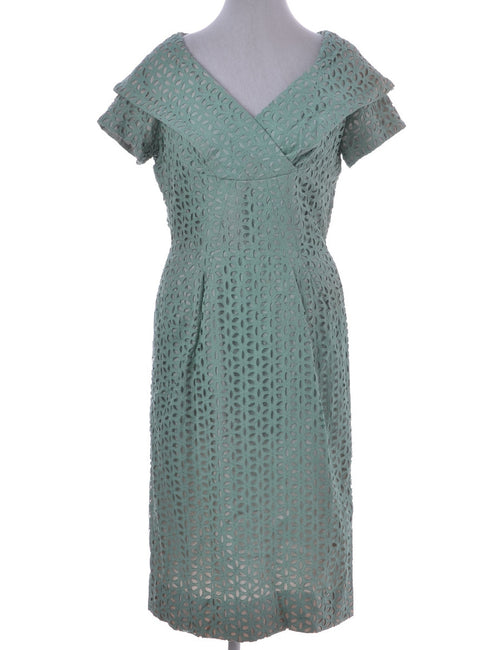 Vintage Day Dress Light Green With Full Lining