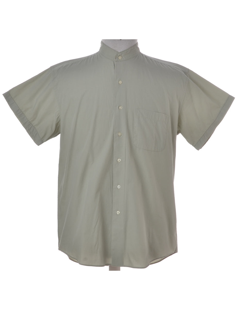 Grandad Collar Short Sleeve Shirt