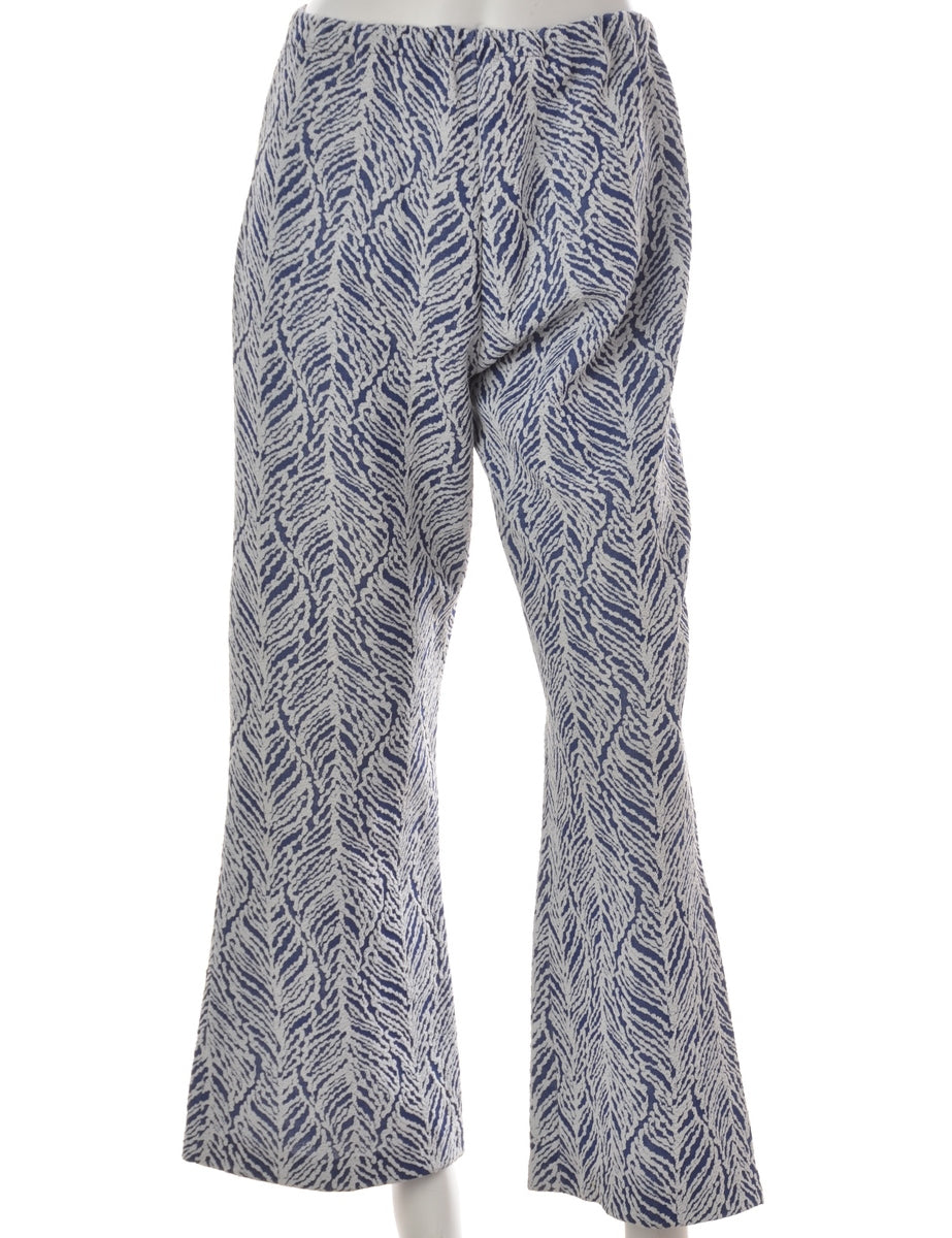 Flared Leg Casual Trousers