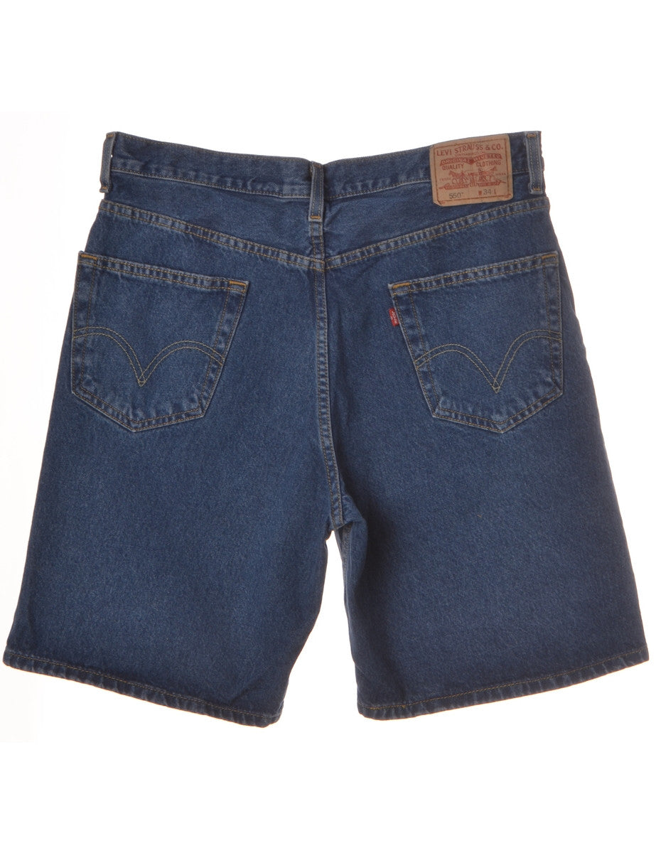 Denim Shorts Indigo With Pockets