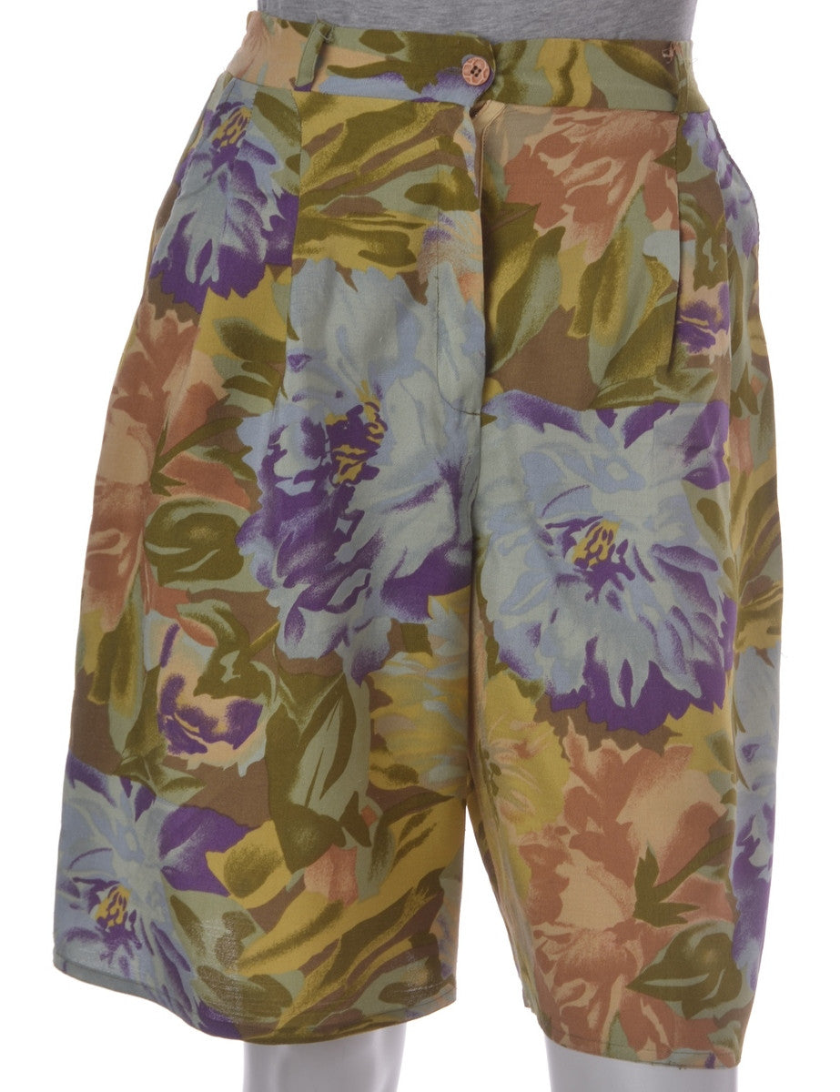 Vintage Casual Shorts Multi-colour With An Elasticized Back