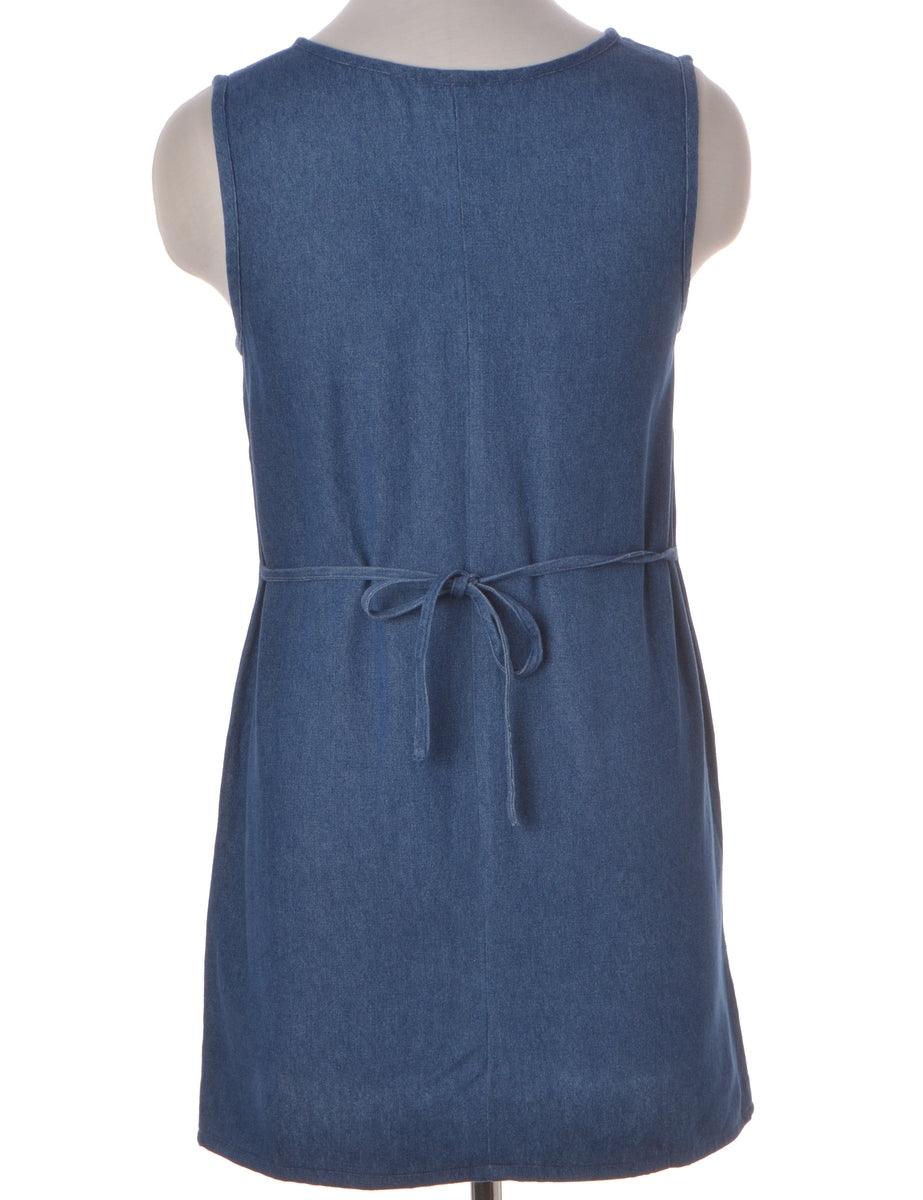 Label Heather Shortened Denim dress
