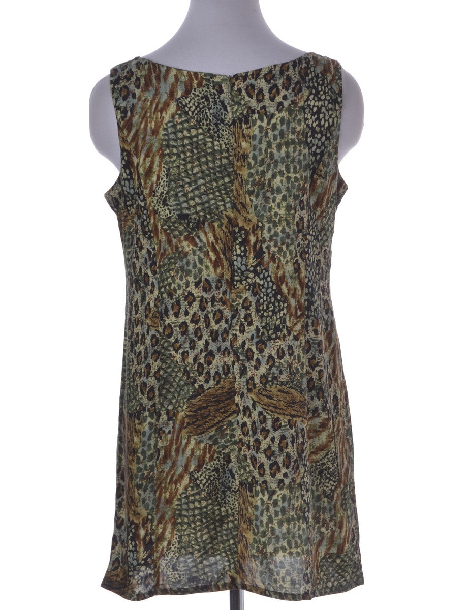 Label Animal Print Short Dress