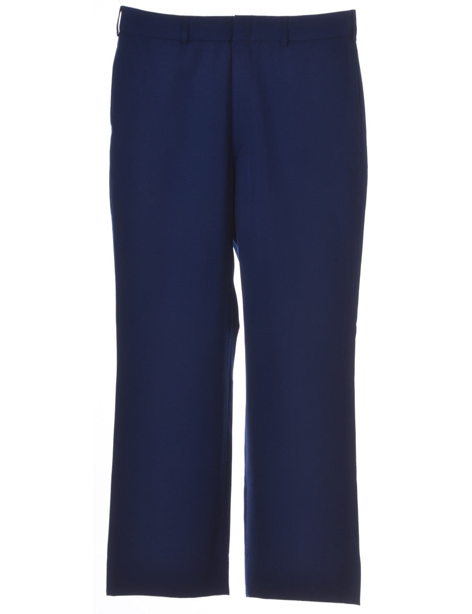 Smart Trousers Blue With Multiple Pockets