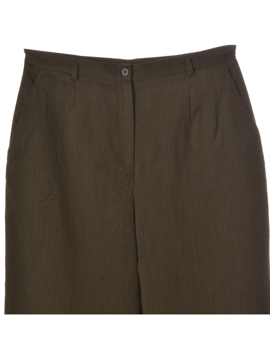 Label Olive Green Womens Cropped Trouser