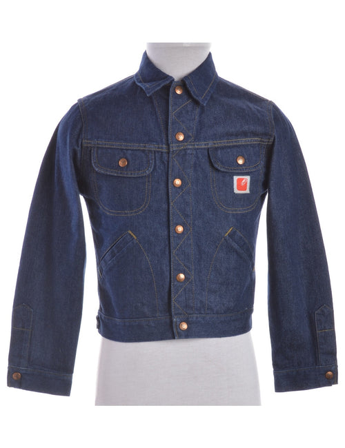 Denim Jacket Indigo With Pockets