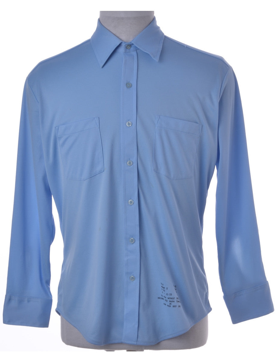 Vintage Casual Shirt Light Blue With Two Pockets